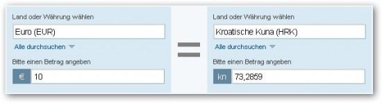 Sie haben derzeit die Ausgangswährung Britische Pfund und die Zielwährung Schweizer Franken mit einem Betrag von 1 Britische Pfund ausgewählt.