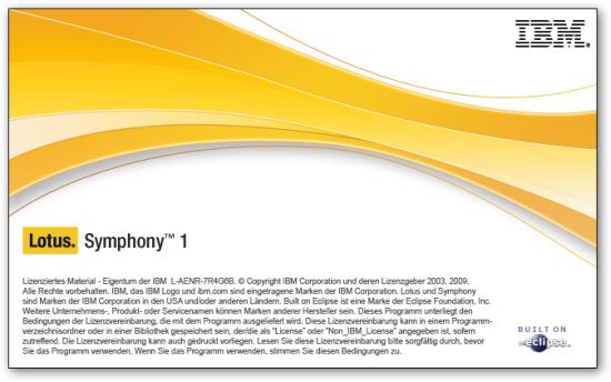 lotus symphony start