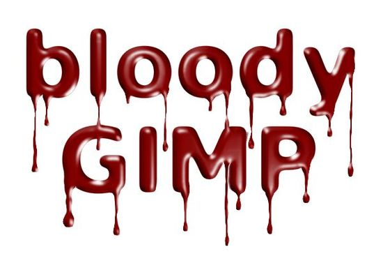 blutige schrift gimp