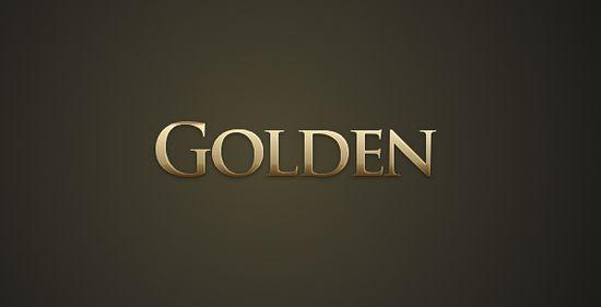 gold text gimp