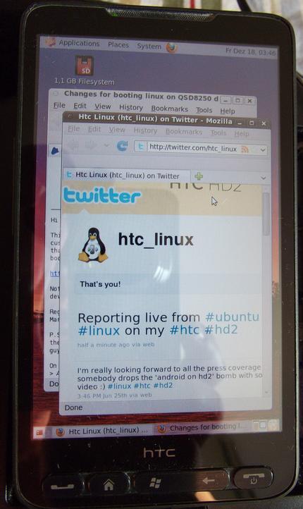 Ubuntu auf dem HTC HD2 Handy