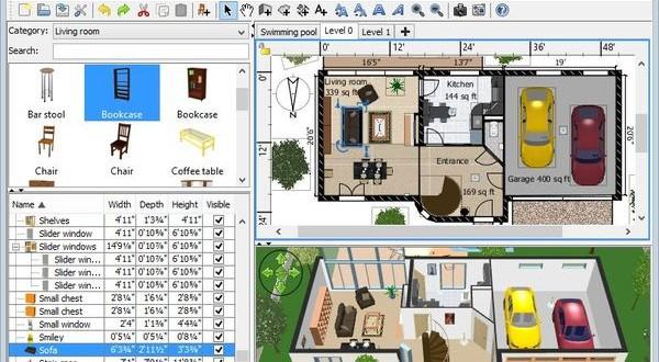 Kostenloser 3d hausdesigner sweet home 3d 3d 3d for 3d wohnungsplaner download