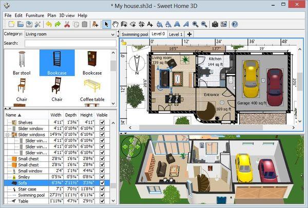 Kostenloser 3d Hausdesigner Sweet Home 3d 3d 3d Designer