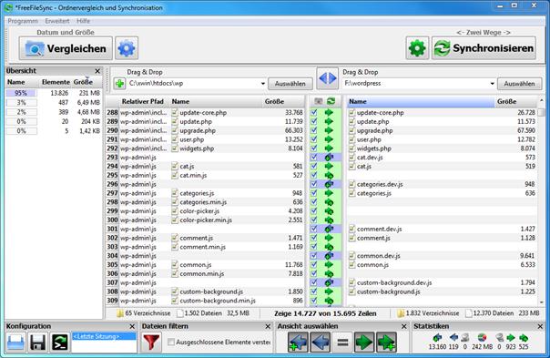 Fenster Konfigurator Software Kostenlos ~ Dateien und Verzeichnisse kostenlos synchronisieren mit FreeFileSync [R