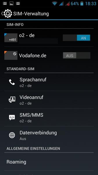 SIM-Verwaltung