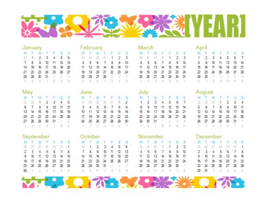 Excel 2013 Kalender-Vorlagen
