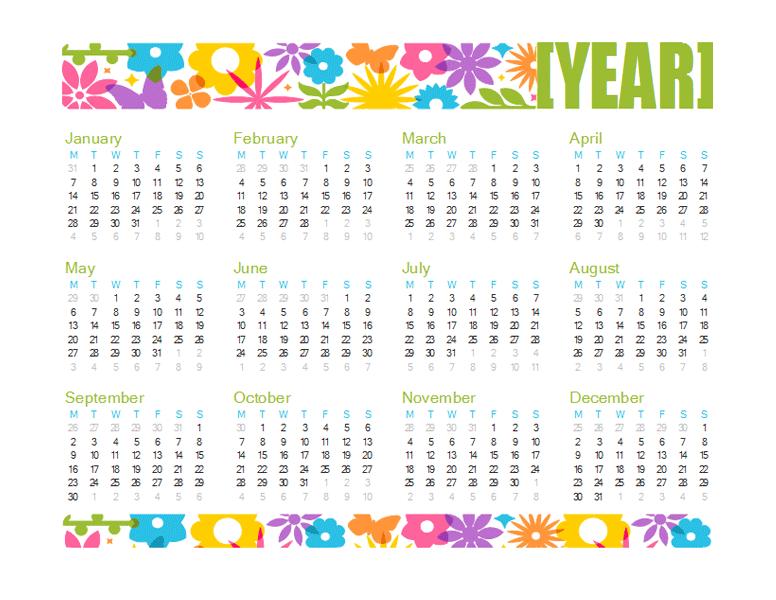 Über 200 kostenlose Kalender-Vorlagen für Excel 2013 » Excel, Excel ...