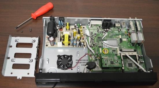 Xtrend ET9500 Festplattenrahmen Ausbauen