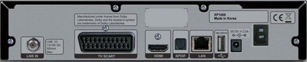 Octagon SF8 HD Rueckseite Linux Receiver
