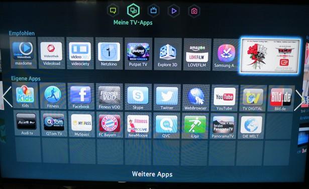 Samsung UExxF6470 Apps