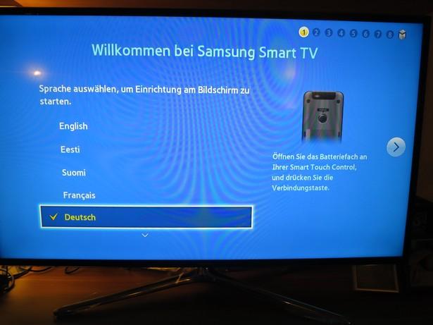Samsung UExxF6470 Einrichten Sprache