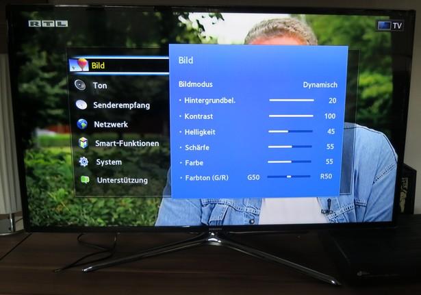 Samsung UExxF6470 Einstellungen Bild