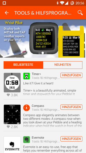 Pebble Apps