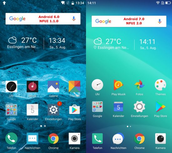Neffos X1 Max: Android 6 vs Android 7