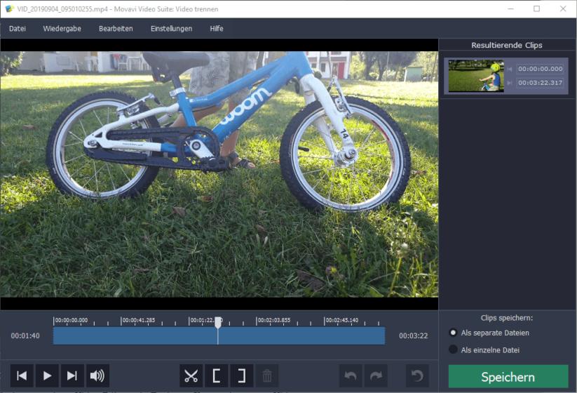 Movavi Video Suite 18 - Videos schneiden